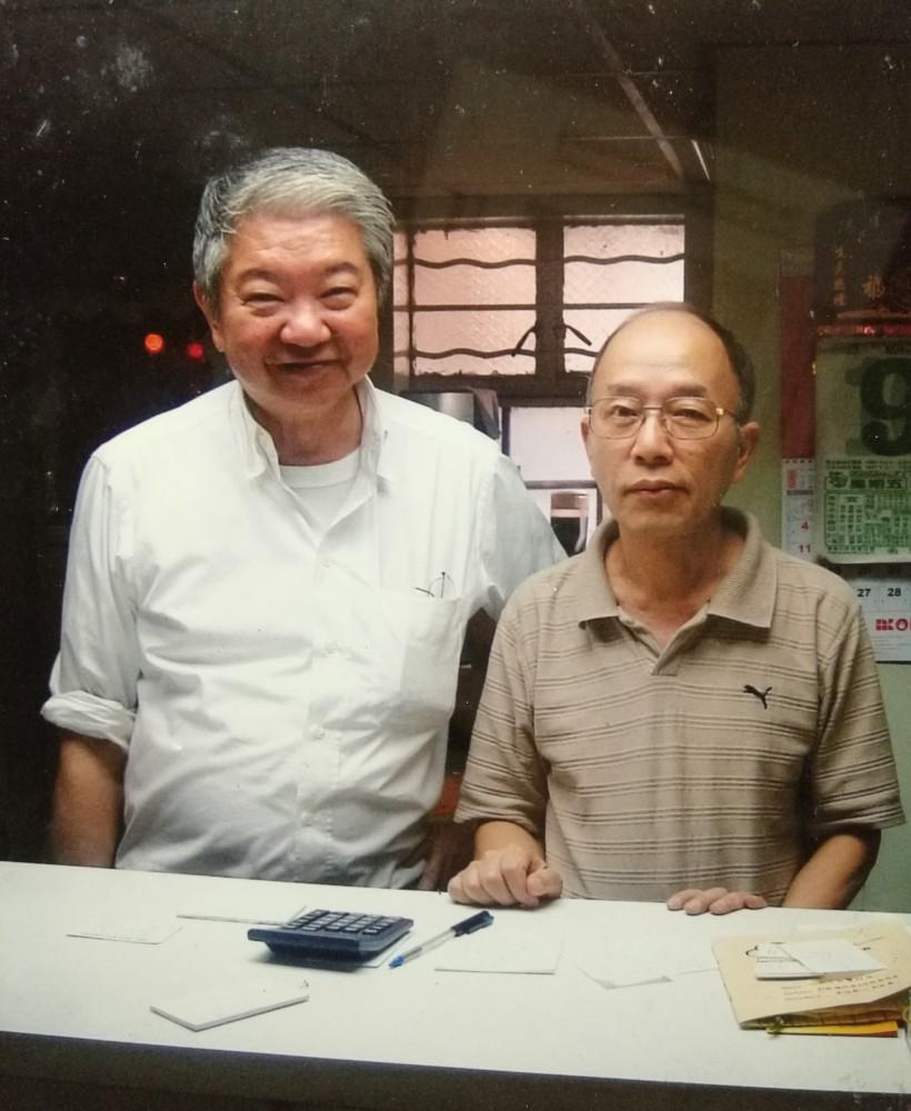 榮幸蔡瀾先生光臨,張榮興先生與他合照。